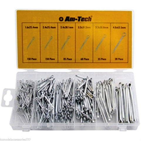 500 PCS Cotter Pin Split Pin Assortment Fixing Set With Case