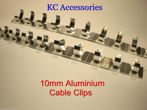 10mm Self Adhesive Aluminium Cable Clips x 20 Ali Clips Per Pack