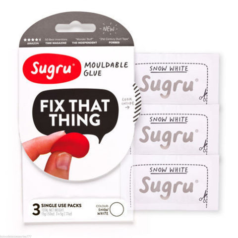 SUGRU MOULDABLE GLUE REPAIR  PACK OF 3 x 5g WHITE