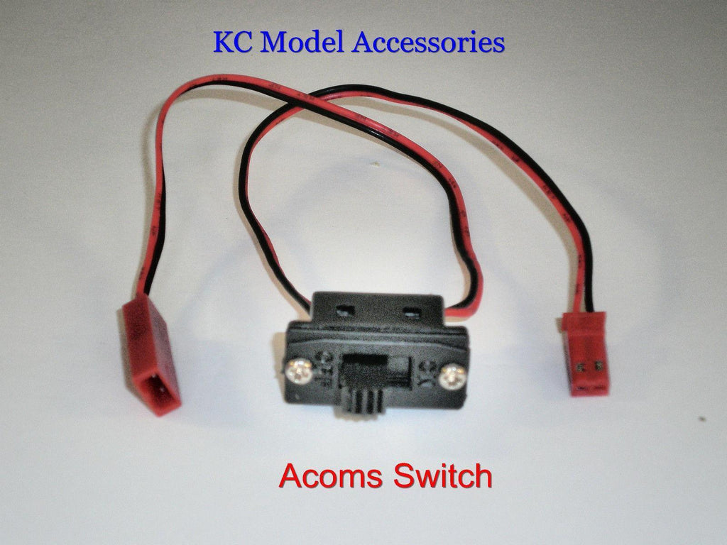Acoms Switch For Battery Box JST BEC Connectors 2 Wire RC Car Switch ...
