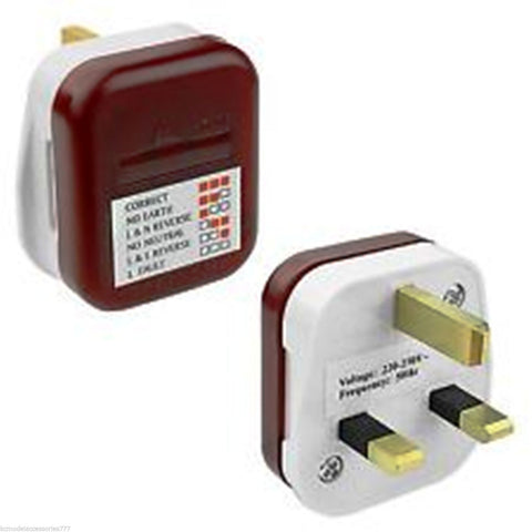 Miraculous Uk Mains Test Power Plug Socket Tester 13A Wiring Safety Check New Wiring Database Pengheclesi4X4Andersnl