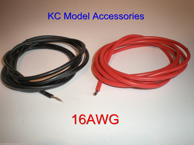 16 AWG Black-Red Silicone Wire 2M Lipo Battery Cable ESC Good Quality