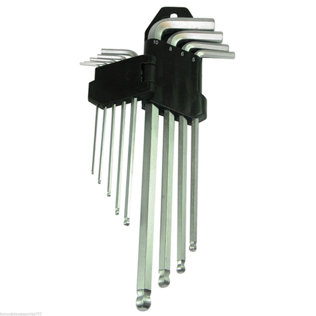 9 pc Allen Key Set Ball End Hex Key Expert Set 1.5 - 10mm