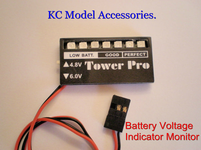 Receiver Battery Voltage Checker Indicator 4.8V 6.0V R/C UK Stock.