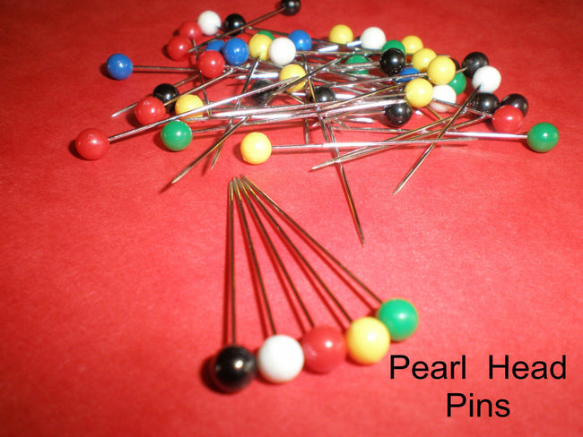Pins Plastic Coloured Head Pins x 50pcs.