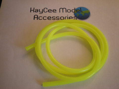 SILICONE Glow Fuel Pipe 1MTR Yellow R/C Plane Car Heli UK Seller.