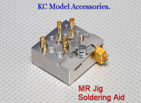 Soldering Aid Mr-Jig fits Deans XT60 3.5mm 4.0mm 5.5mm JST and most other plugs