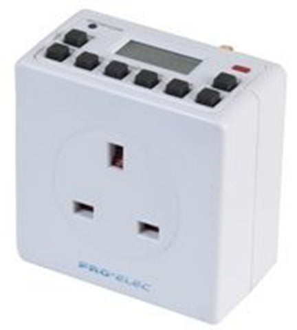 Plug In Digital Electronic LCD Timer Switch 24 Hour 7 Day Programmable.