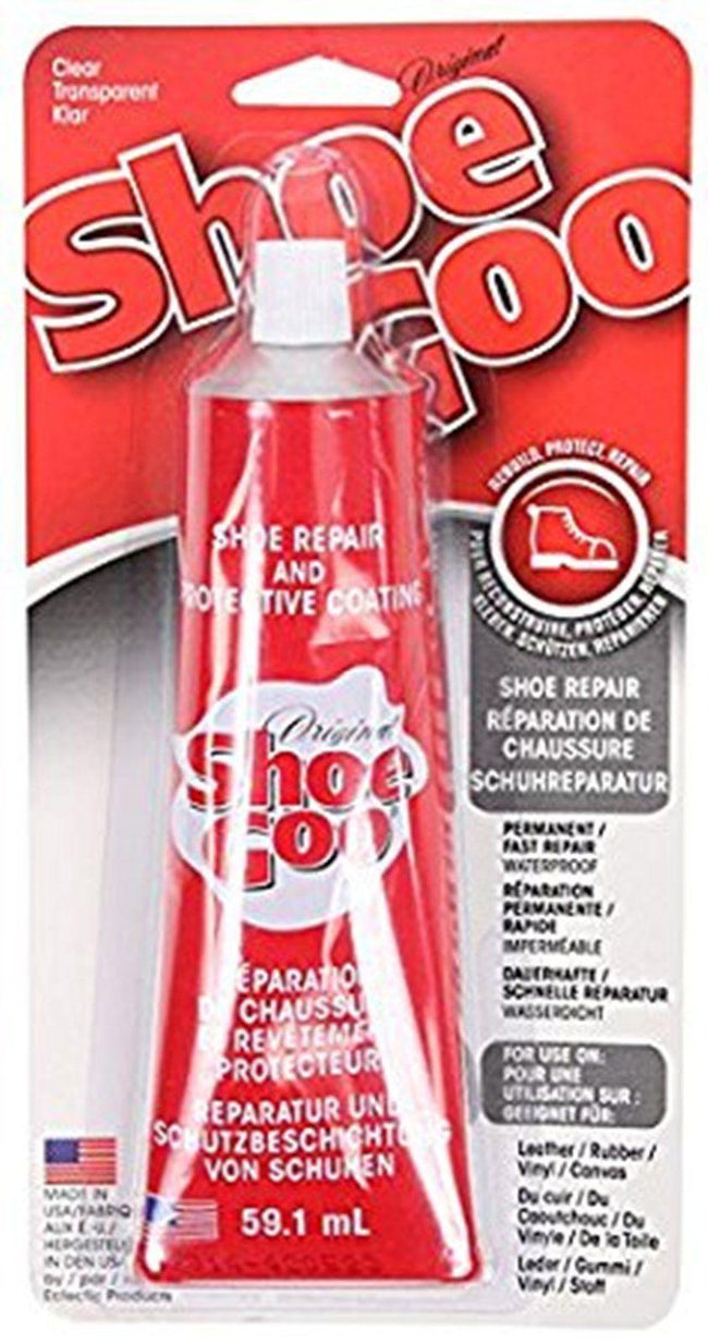 SHOE GOO CLEAR 59.1ML GENUINE GLUE-TRAINERS & ALL SHOE REPAIRS WITH NOZZLE