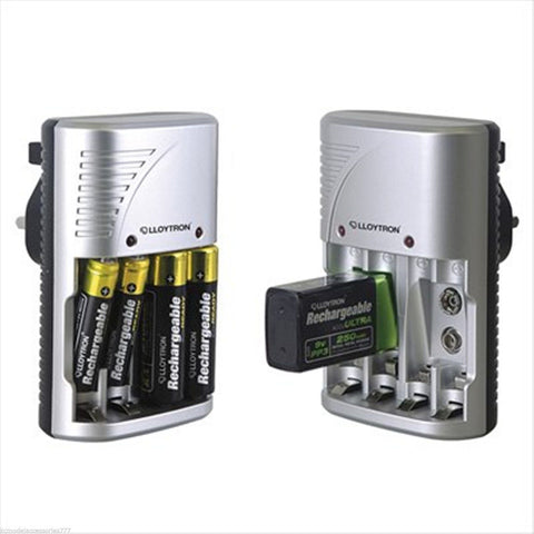 Lloytron NEW Mains Battery Charger For AA AAA or 9V PP3