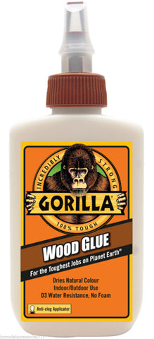 118ml GORILLA WOOD GLUE PVA Multi Purpose 100% Waterproof Adhesive Water Based
