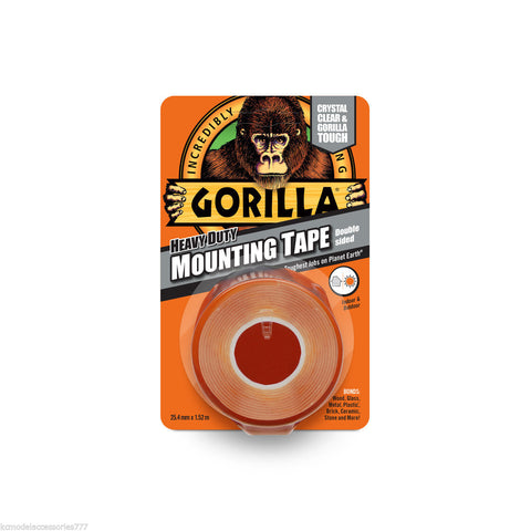 Gorilla Glue Heavy Duty Mounting Tape Double Sided Clear Weatherproof.