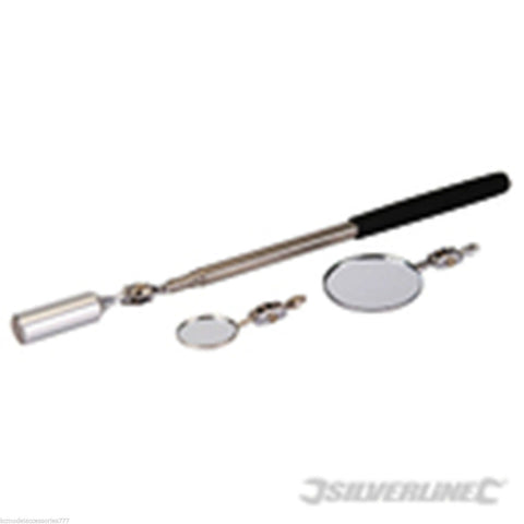 3 in 1 Magnetic Pick-up Tool Inspection Mirror Telescopic Multi-Headed