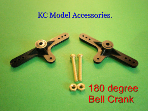 Bell Crank 180* x 2pcs with Screws