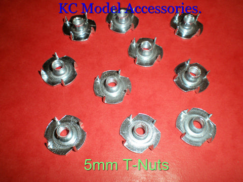5mm Captive T Nuts / Blind Nuts 10pcs M5