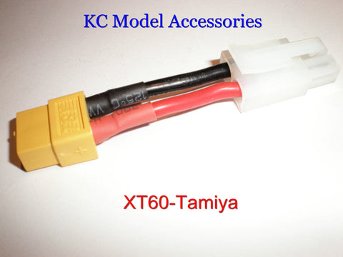XT60Female to Tamiya Large Male Plug Battery Charging Adapter Lead.