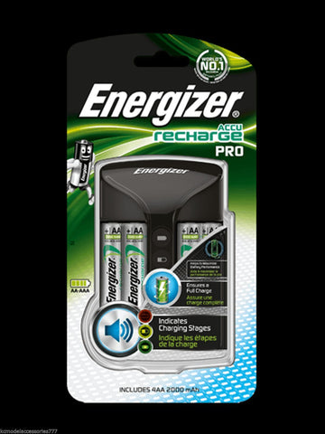 Energizer Pro AA/AAA Charger Plus 4 x 2000 mAh Rechargeable Batteries UK