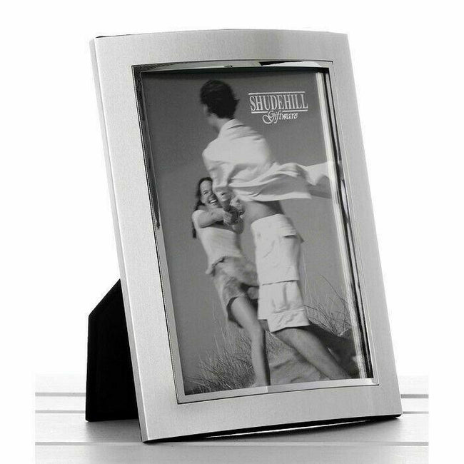 Photo Frame 10 cm x 3 cm curved Silver Standing Picture Frame 74123