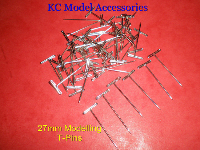 T-PINS 27mm LONG FOR MODELLING & CRAFTS x 50 PINS.