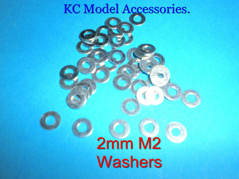 2mm M2 Washers Steel x 50pcs