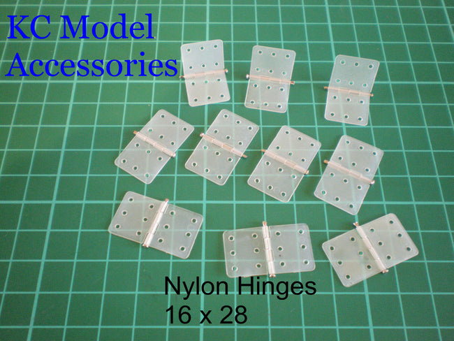 Hinges Nylon Pinned 16mm x 28mm x10 pieces Strong Pin Good Quality