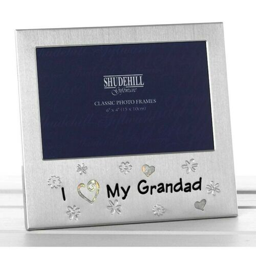 Photo Frame I Love My Grandad Satin Silver Ideal Gift Free Standing 72764