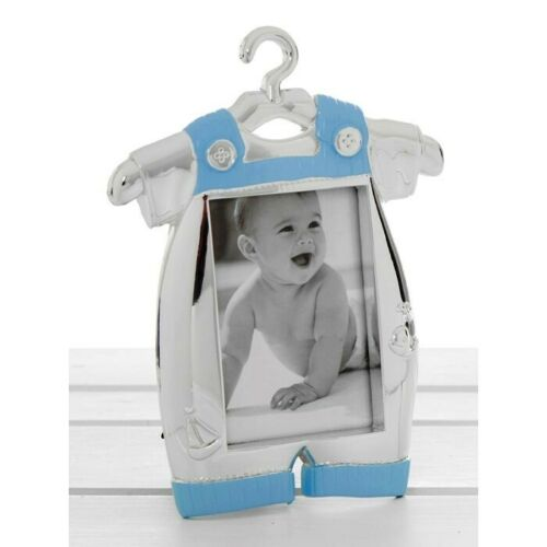 Photo Frame Silver Blue Baby Romper Suit Photo Frame Ideal Baby Gift 50522