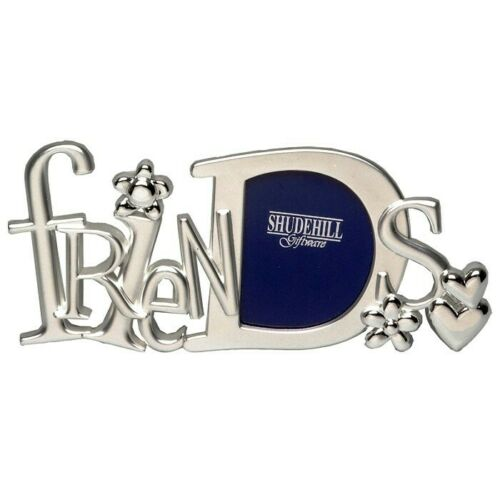 Friends Photo Picture Frame Letters Silver Friendship BFF Shudehill 71405