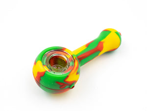 Silicone Pipe - Smooth - Rasta
