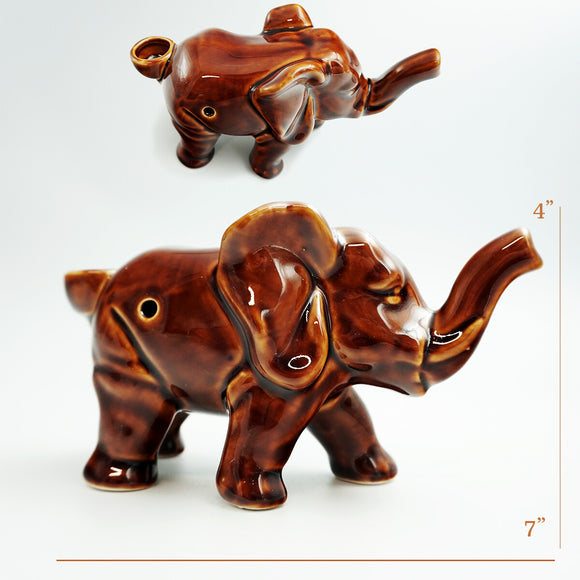 Ceramic Elephant Pipe