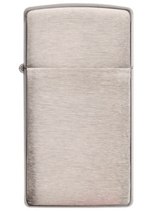 Zippo Lighter - Slim Brushed Chrome