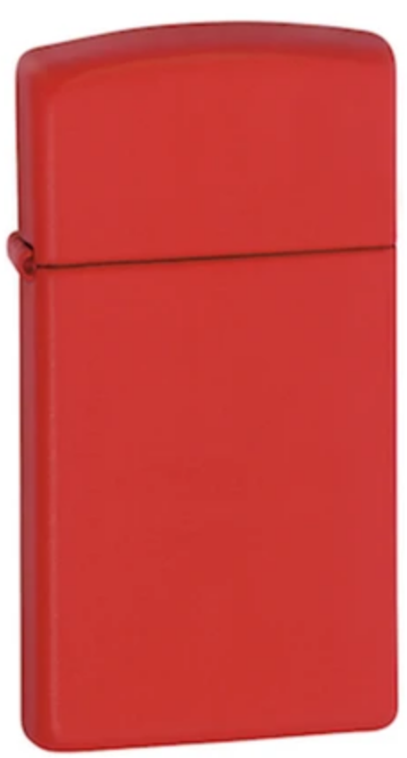 Zippo Lighter - Red Matte Slim