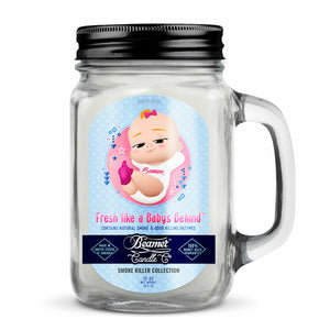 Beamer Candle 12oz - Smoke Killer - Fresh Like A Baby's Behind