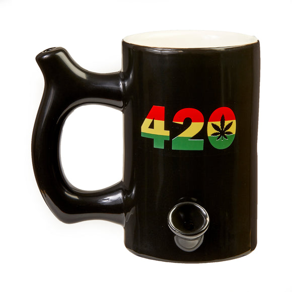 Mug Pipe - 420 - Black - Head HQ