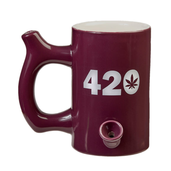 Mug Pipe - 420 - Purple - Head HQ