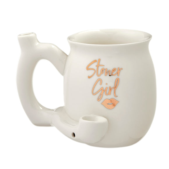 Mug Pipe - Stoner Girl - White - Head HQ