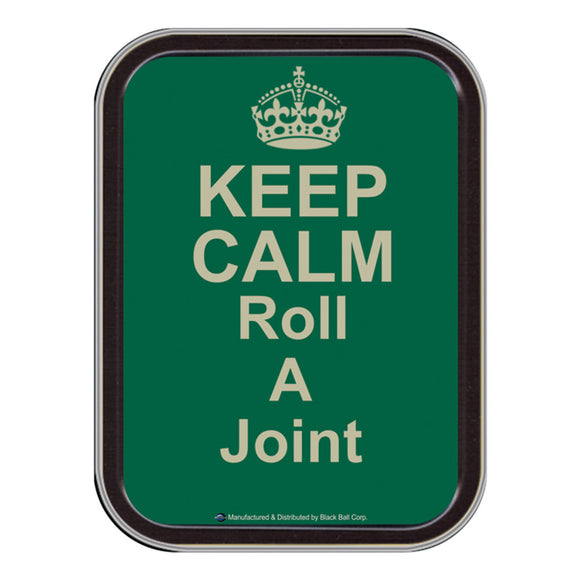 Stash Tin - 4.5 x 3.5 Inches - Keep Calm & Roll a Joint