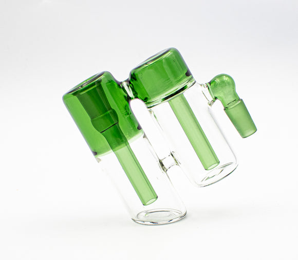 Double Ash Catcher 90° Green - Head HQ