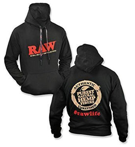 Raw Hoodie Black - All Sizes