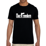 OUR FREEDOM - Benjamin Franklin Quote - Black