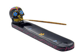 Incense Burner - Day of the Dead - Black