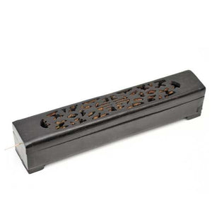 Incense Burner Box - Black Wood - Head HQ