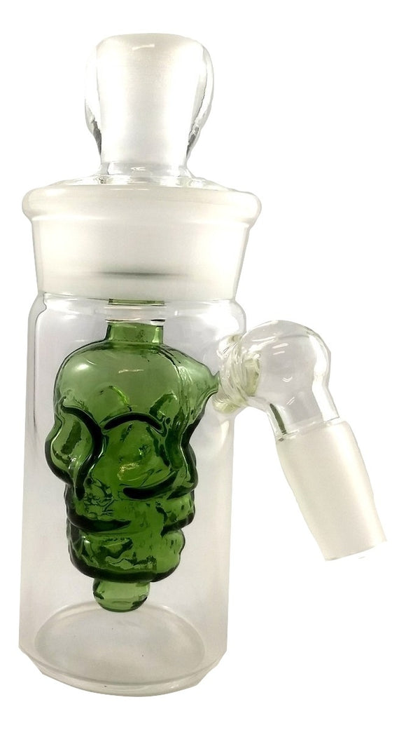 Skull Ash Catcher With Removable Perc 45° Green - Head HQ