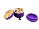 Grind Stone® 4 pcs Silicone Grinder - Purple - Head HQ