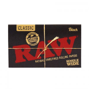 Raw - Black Single Wide - Head HQ