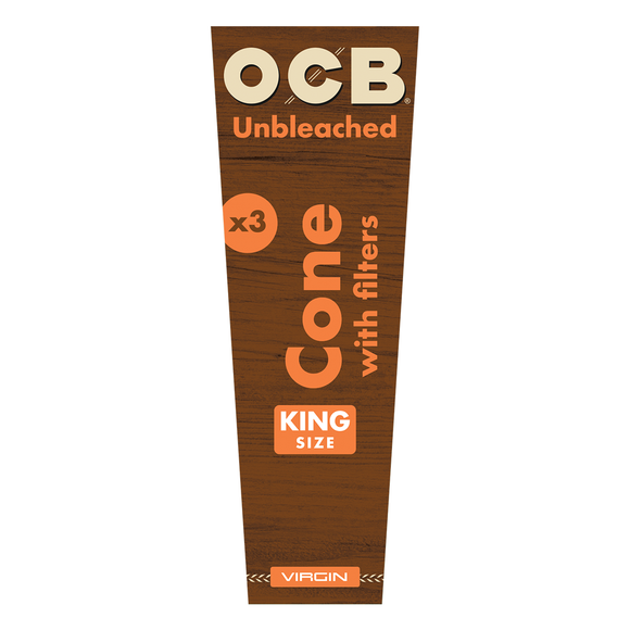 OCB - Unbleached Cones - King Size (3pk)