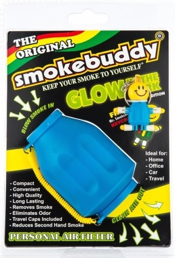 Smokebuddy Original - Glow in the Dark (Blue & White)