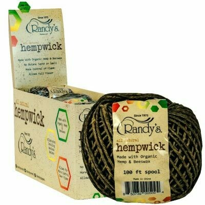 Randy's Hemp Wick - 100ft