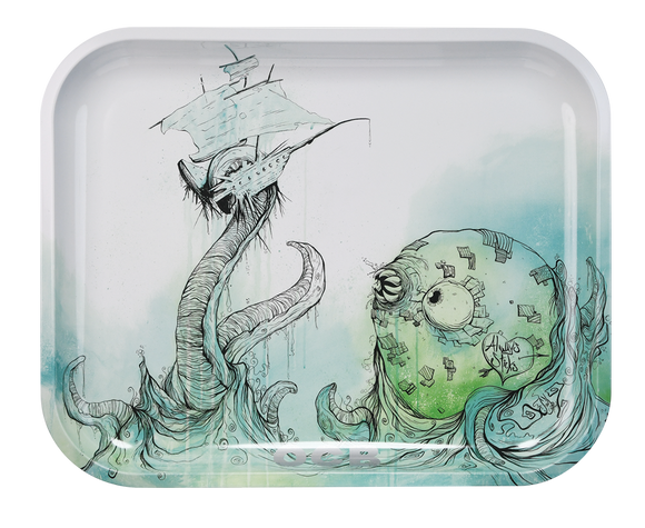 OCB Rolling Tray - Large - Sea Monster