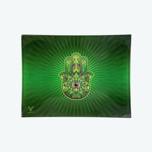 Glass Tray - Small - Hamsa Green - Head HQ